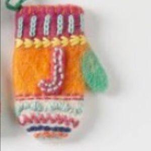 "Anthropologie ""J"" Monogram Christmas Ornament 🎄"